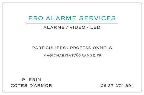 Alarme/ vidéo / led